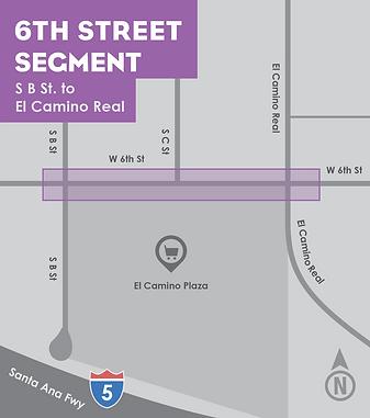 6th Street segment map