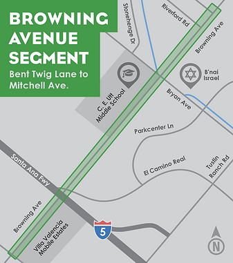 Browning Ave Segement map