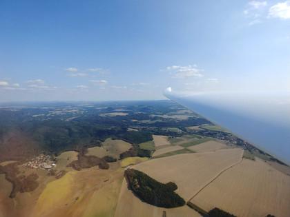 Streckenflug bei Pirna