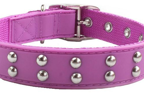 Stud Dog Collar Purple