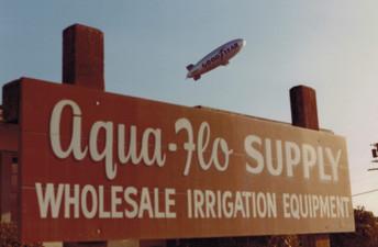 Vintage Aqua-Flo Sign