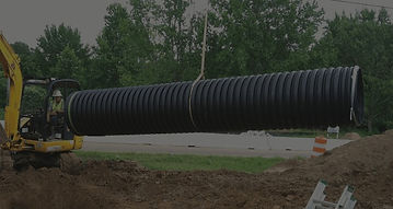 Installing sewer and drain pipe