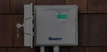 Hunter smart irrigation controller.