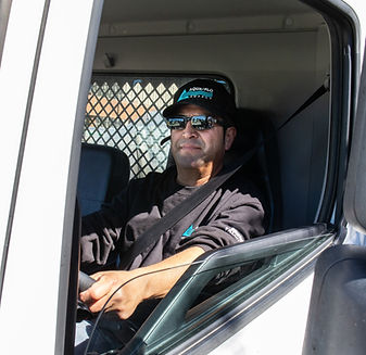 Delivery truck driver providing exceptional customer service