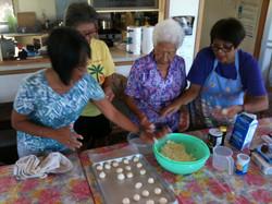 "Making ""cascaron"" with Nana Connie"