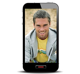 Smart Phone with Smiling Man