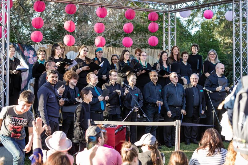 CGA! Choir group shot smiles for young c