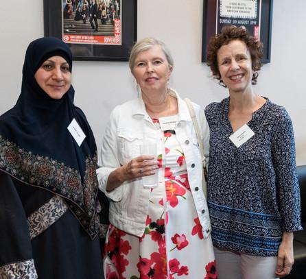 Guests Awatif Al Saadi, Christine Christ