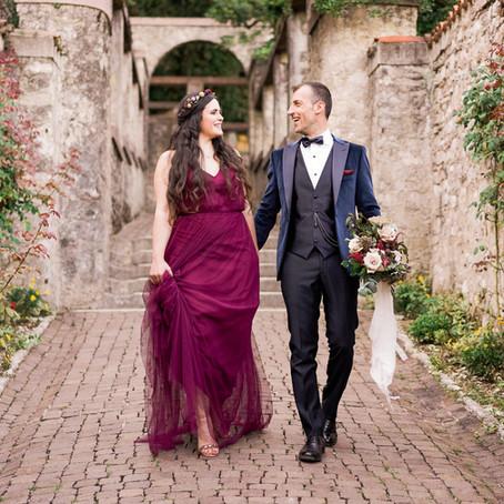 Serena & Manolo photo shoot at Il Vittoriale degli italiani (Lake Garda, Italy)