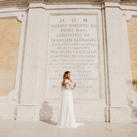 Styled photo shoot in Rome with Olivia Gama