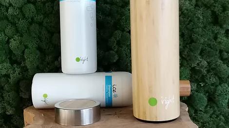 Set O'right: Ice 400ml shampoo & bodywash + Bamboo thermos en eco-bag
