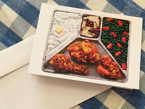 """""""I Cooked!"""" TV dinner greeting card"""