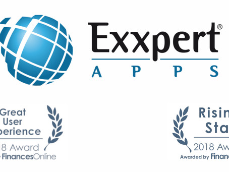 """ExxpertApps awarded as """"Rising Star"""" for CRM Software by FinancesOnline Directory"""