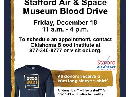 Blood Drive Friday, Dec. 18
