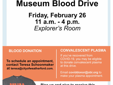 Blood Drive Friday, February 26