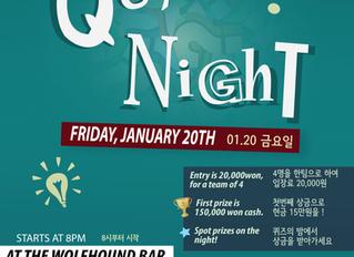 IAK Quiz Night, January 20th