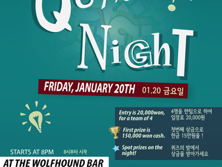 IAK Quiz Night, January 20th