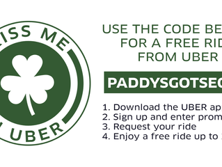 An Uber Irish Partnership for Paddy's Day