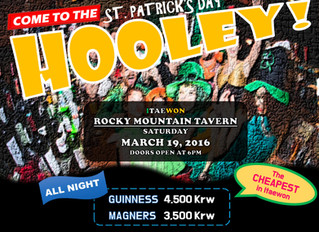 St.Patrick's Day Official Hooley Fundraiser