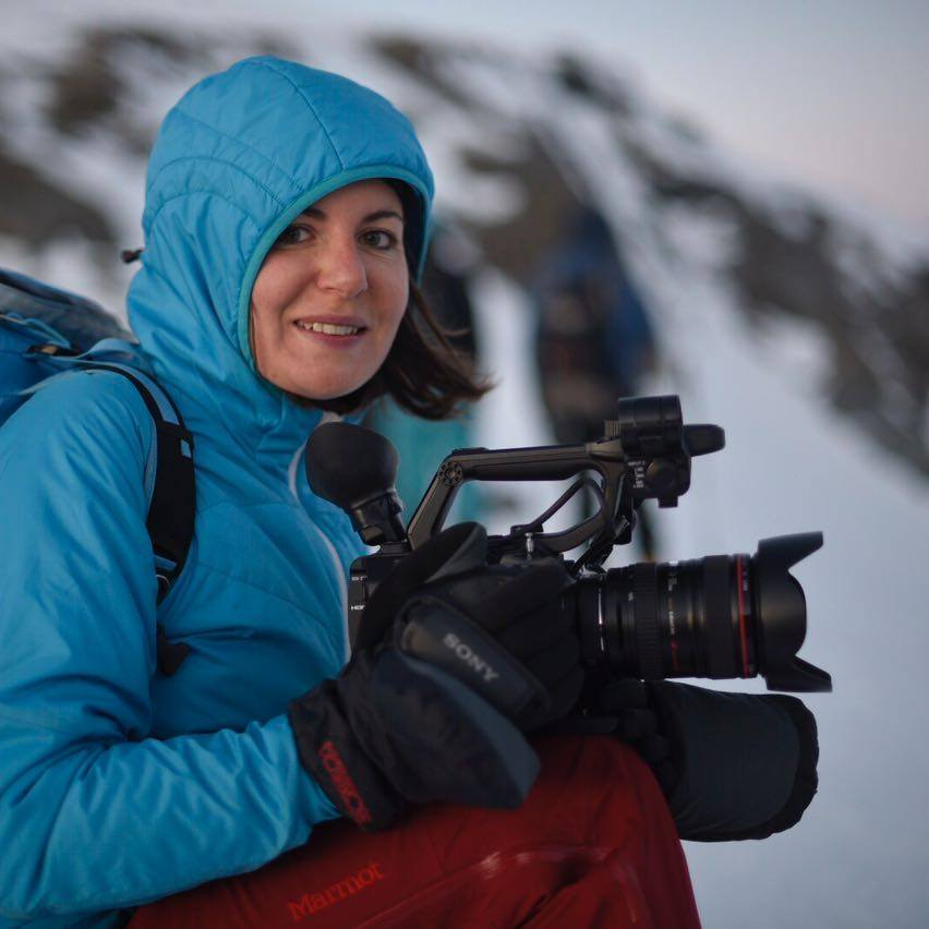 Filming Mezzlama Ski Race