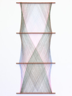 Single Phase Hanging.  2018.  Mixed yarn and wood.  190x80x3cm.