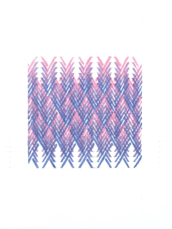 Lino Study.  2018.  Lino monoprint.  Ink on paper.