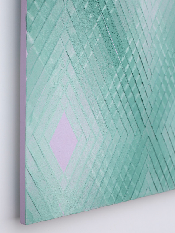 Green on violet No.2.  2019.  Detail.
