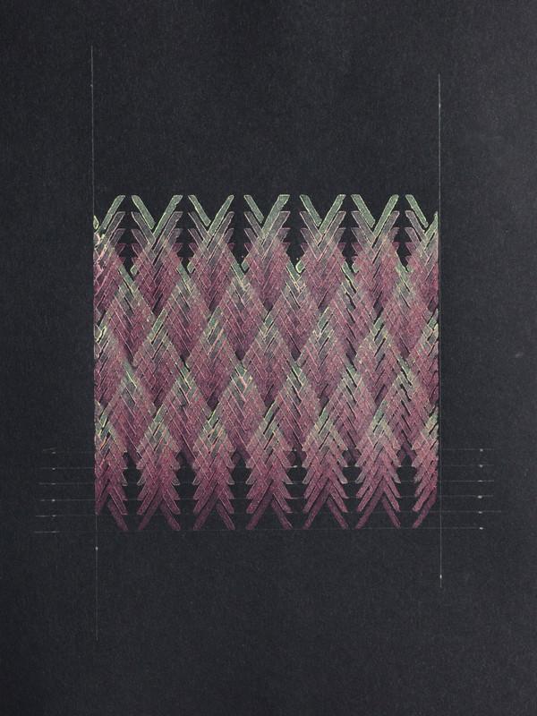 Lino Study.  2018.  Lino monoprint.  Ink on plywood.