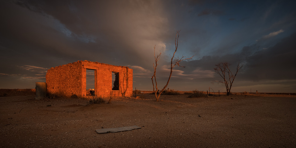 Milparinka ruins sunrise