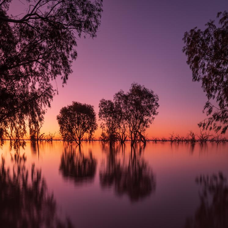 Lake Menindee sunset