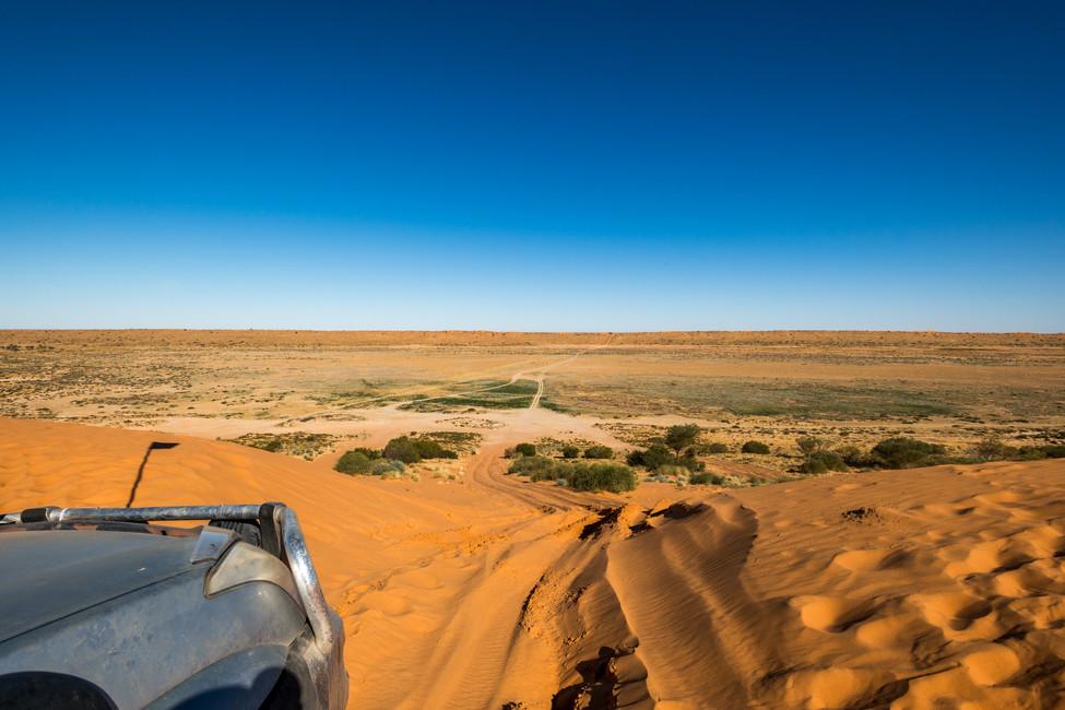 The start of the Simpson Desert