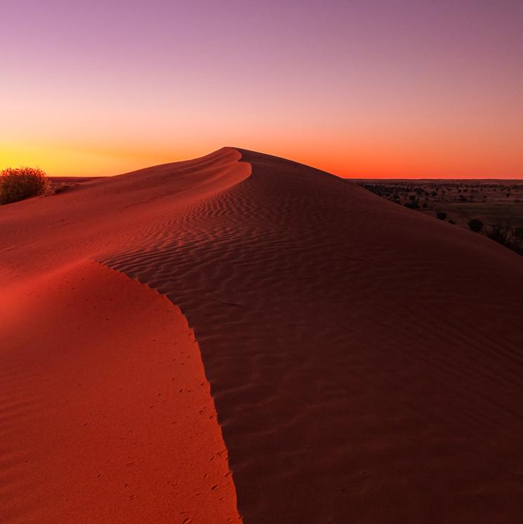 Big Red sunset