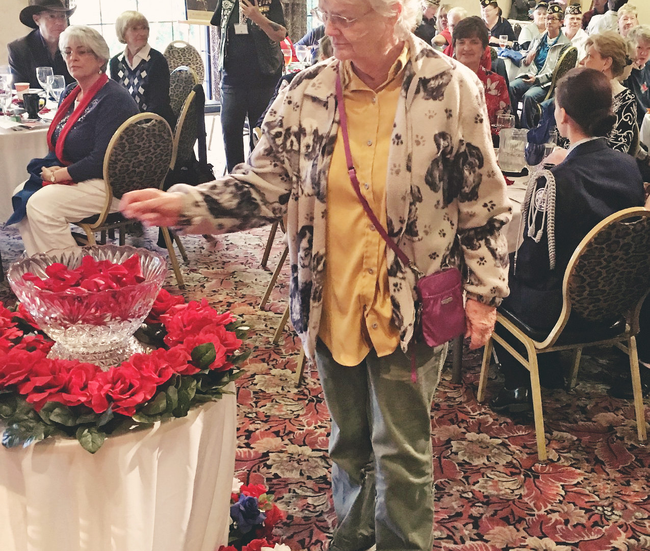 Women Veterans Rose Petal Ceremony