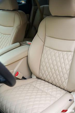 Nissan murano with custom katzkin tekstitch tan interor