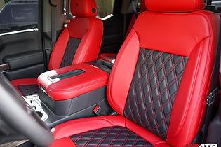 Silverado Trailboss Custom Red Interior