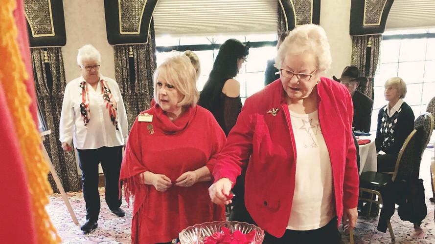 Women Veterans Rose Petal Ceremony