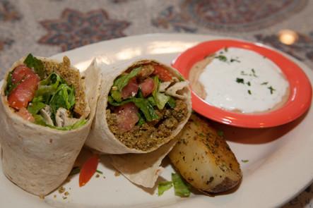 falafel wrap- lunch