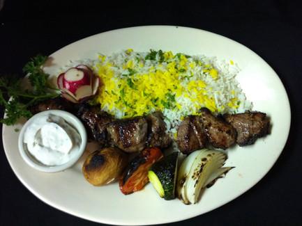 Caspian lamb kabob