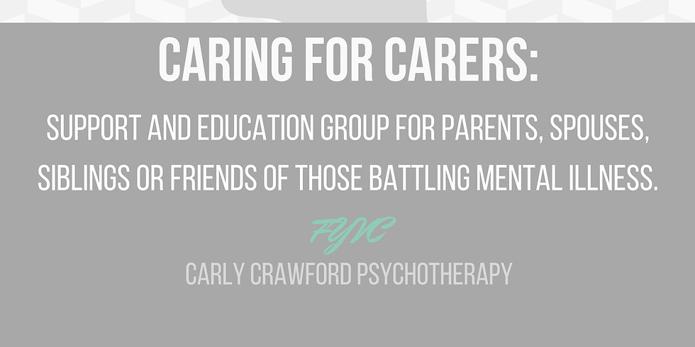Caring For Carers  December