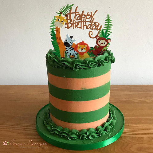 Jungle Magic Birthday cake