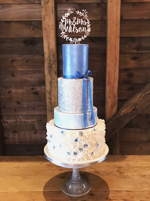 4 TIER LUXURY WEDDING CAKE