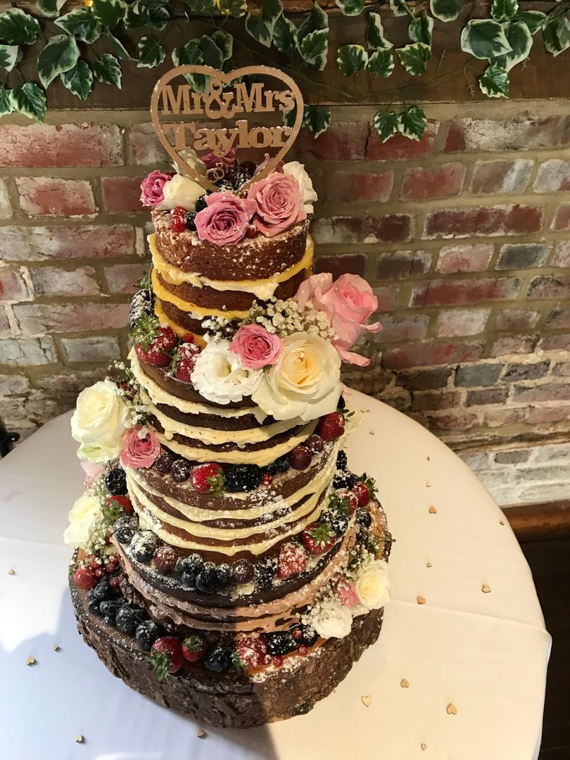 Lillibrooke Manor rustic cake