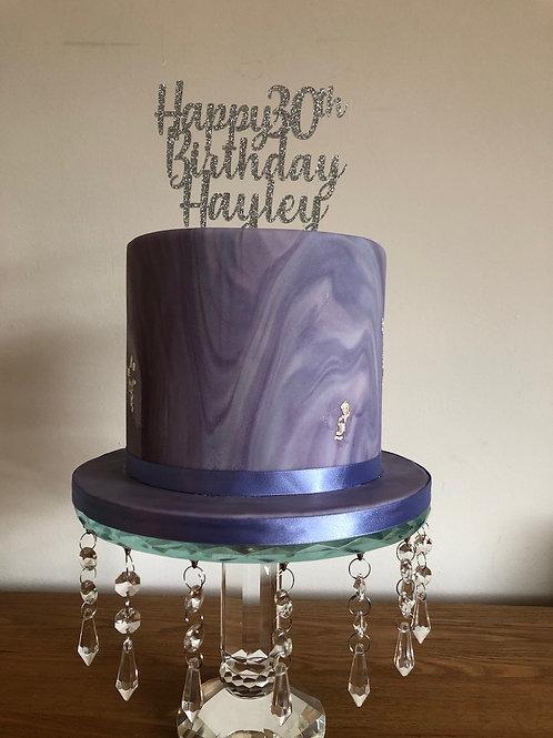 """7"""" iced marble celebration cake"""