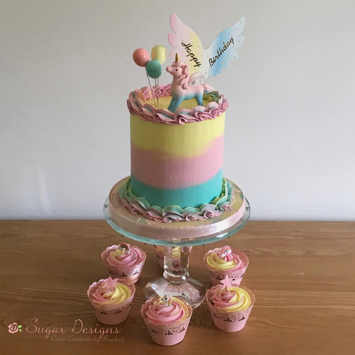 Magical Unicorn birthday cake