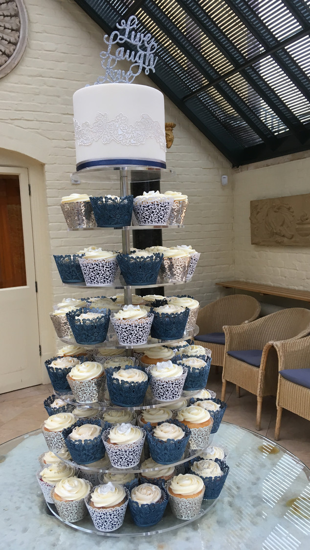 Waddesdon Dairy cupcake tower