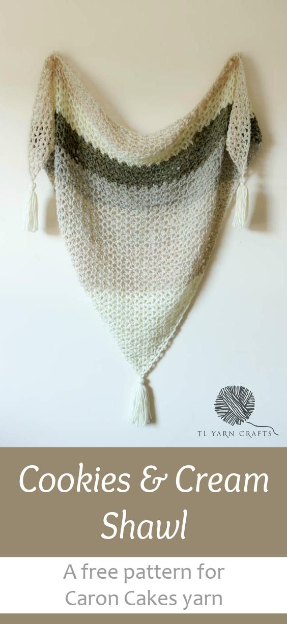 Make the Cookies & Cream Shawl – TL Yarn Crafts