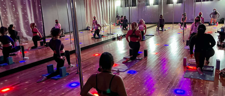 Flexibility Class Under the Twinkly Lights