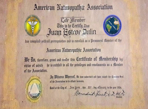 Copia de Reconocimiento al Prof. Juan Esteve Dulin 🌎 del Dr. Benedict Lust, padre de la Naturopatía