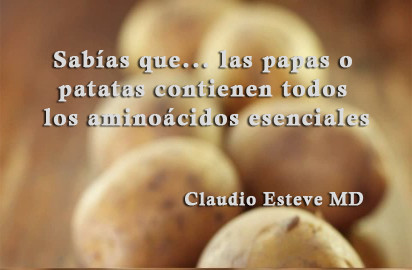 Las papas o patatas como alimento 🍃