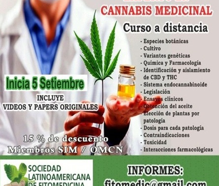 Curso de Experto en Cannabis Medicinal🌱